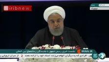 فیلم: روحانی: رئیس جمهور فرانسه ماهها در تلاش است ( برای دیدار با ترامپ ) راه حلی پیدا کند